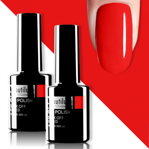 Beautilux Gel Nail Polish Red 10ml #003