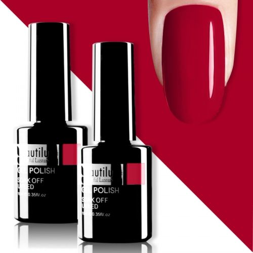 Beautilux Gel Nail Polish Red 10ml #007
