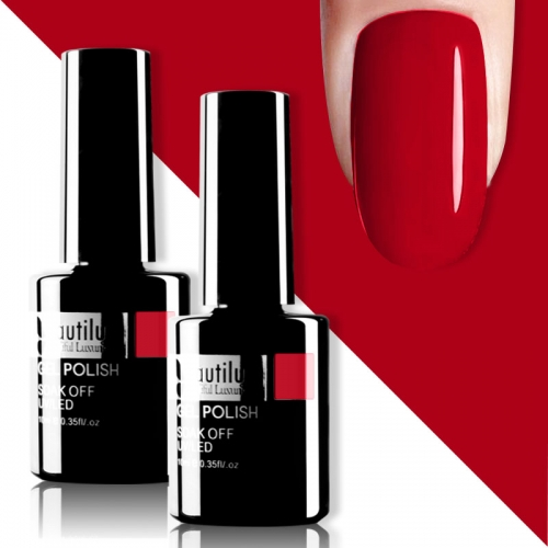 Beautilux Gel Nail Polish Red 10ml #006