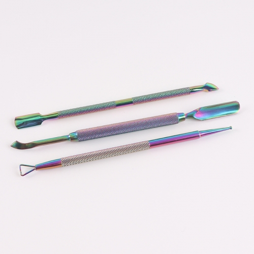 Rainbow Stainless Steel Cutical Pusher Kit 3pcs