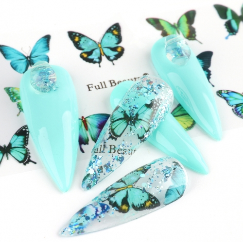 Butterfly Nail Transfer Foil 10 Styles/Pack