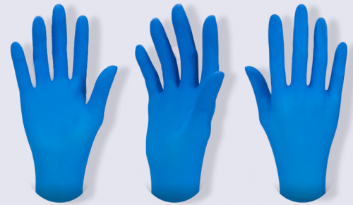 Touch Nitrile Disposable Gloves, Blue,100 pcs