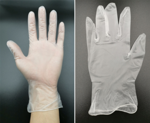 Medical Clear Vinyl Gloves - 4 mil, Latex Free, Powder Free, Disposable, Non-Sterile, Large, VPF66100-BX, Box of 100