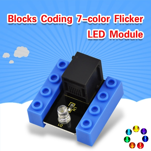 kidsbits Blocks Coding 7-color Flicker LED Module