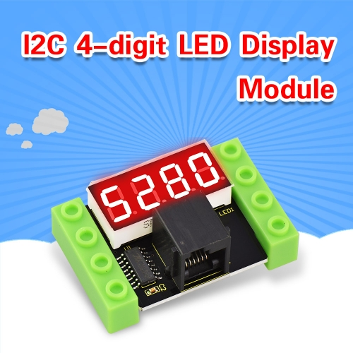 Kidsbits Building Blocks 4-Digit LED Segment Display Module For Arduino STEM Education
