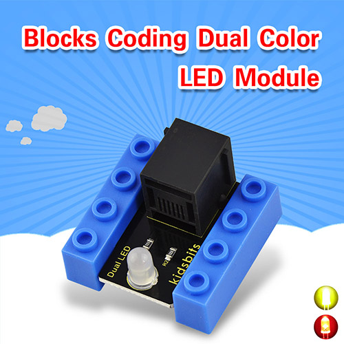 kidsbits Blocks Coding Dual Color LED Module (Black and Eco-friendly)