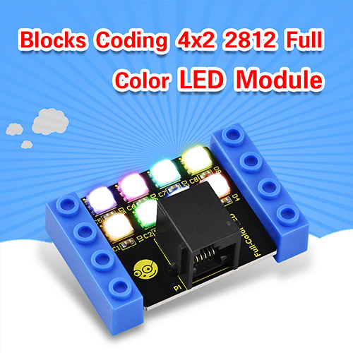 kidsbits Blocks Coding 4x2 2812 Full Color LED Module