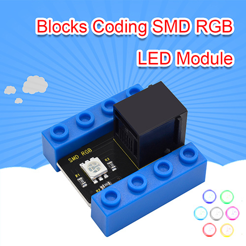 kidsbits Blocks Coding SMD RGB LED Module (Black and Eco-friendly)