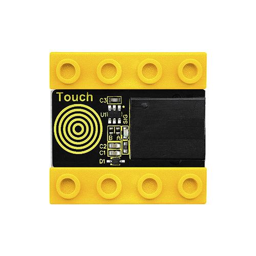 kidsbits Blocks Coding Capacitive Touch Sensor (Black and Eco-friendly)