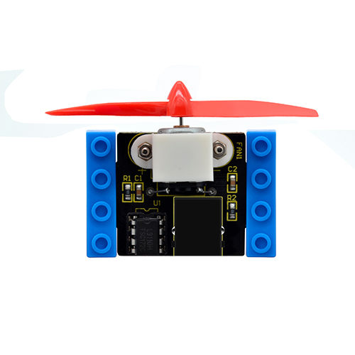 kidsbits Blocks Coding L9110 Motor Fan Module (Black and Eco-friendly)
