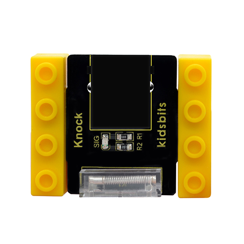 kidsbits Blocks Coding Knock Sensor (Black and Eco-friendly)