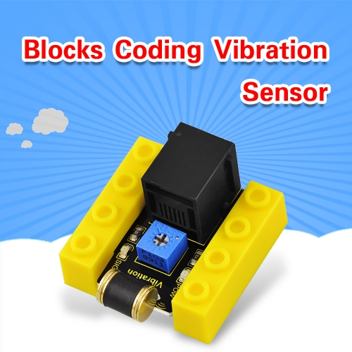 kidsbits Blocks Coding Vibration Sensor (Black and Eco-friendly)