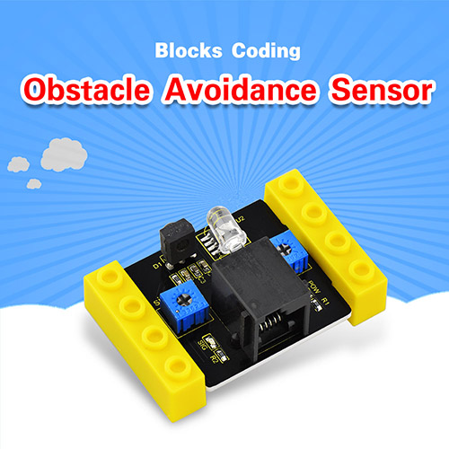 kidsbits Blocks Coding Obstacle Avoidance Sensor (Black and Eco-friendly)
