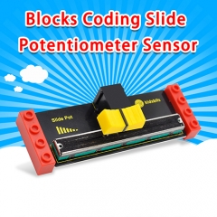 kidsbits Blocks Coding Slide Potentiometer Sensor (Black and Eco-friendly)