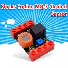 kidsbits Blocks Coding MQ-3 Alcohol Sensor (Black and Eco-friendly)