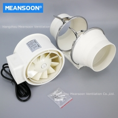 5 Inches 125 Plastic Mixed Flow Inline Duct Fans