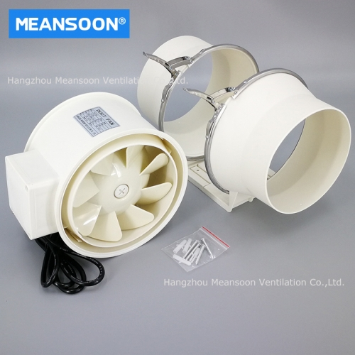 MDF-160 Plastic Mixed Flow Inline Duct Fans