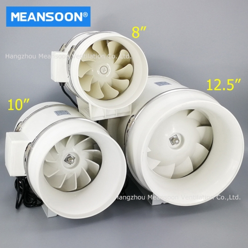 10 Inches 250 Plastic Mixed Flow Inline Duct Fans