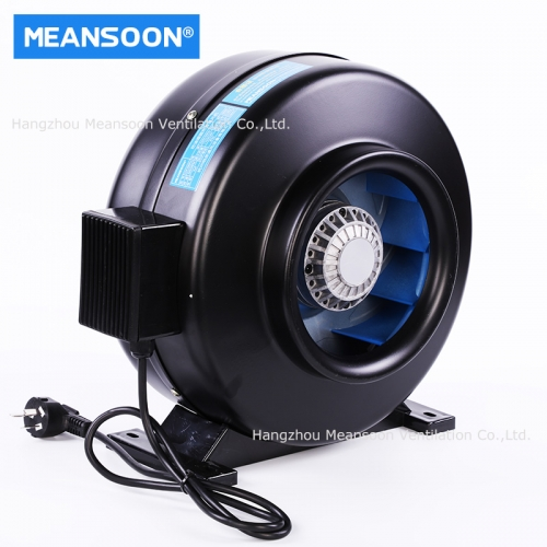 8 Inches 200 Water Smoke Inline Duct Fans for Kitchen