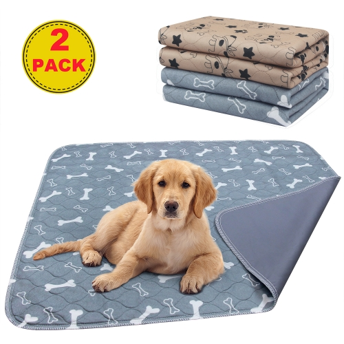 AK KYC 2 Pack Washable Pee Pads for Dogs Puppy Pads Dog Training Pad (31x35in) Waterproof Reusable Fast Absorbent Travel for Dog