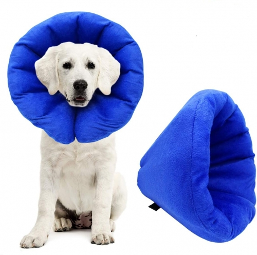 AK KYC Pet Inflatable Collar for Dogs Cone After Surgery Adjustable Puppy Recovery Protective Collar for Small Medium Dogs