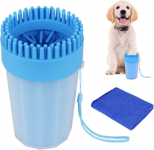 AK KYC Dog Paw Washer Dog Paw Cleaner Pet Paw Cleaner for Dogs Large&Medium Silicone Pet(Puppy) Paw Cleaner & Grooming Brush Cup Quick Wash Muddy Paws