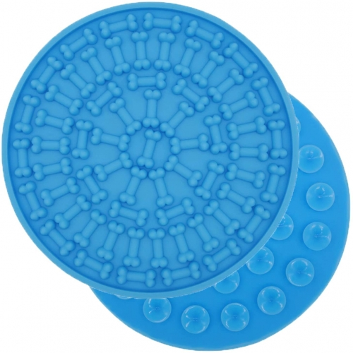 AK KYC Bath Lick Mat for Dogs | Dog Washing Distraction Device | Silicone Dog Lick Pad for Pet Bathing Grooming | Super Suction