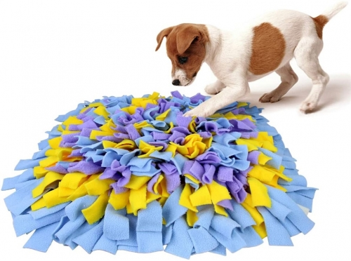 AK KYC Snuffle Mat for Dogs, Dog Feeding Mat, Dog Puzzle Enrichment Toys, Nosework Slow Feeding Training, Encourages Natural Foraging Skills