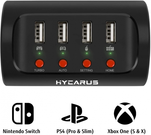 Hycarus Wireless Keyboard And Mouse Adapter With Controller Converter For Ps4 Xbox One Nintendo Switch Perfect For Games Like Fps Tps Rpg And Rts Mnk Adapters