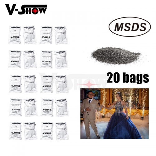 20 Bags Ti Powder 200g/bag Material For Cold Spark Firework Machine Wedding Sparkular Machine MSDS Powder Certification