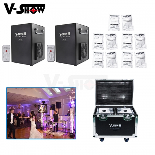 2pcs With Flightcase And 10 Bags Powder 750W Cold Spark Firework Wedding Machine Dmx Remote Control Stage Effect Machine