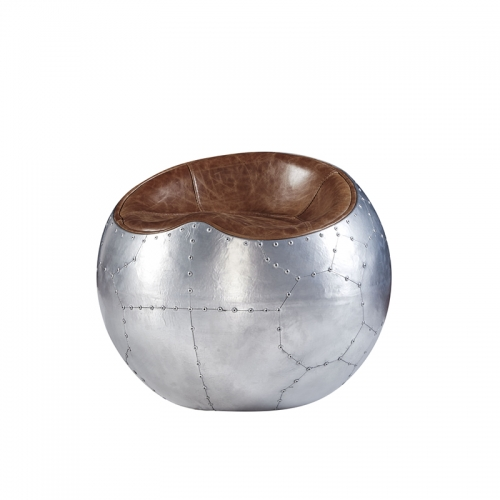 Retro Aluminium Aviator Finn Stone Apple Ball Chair