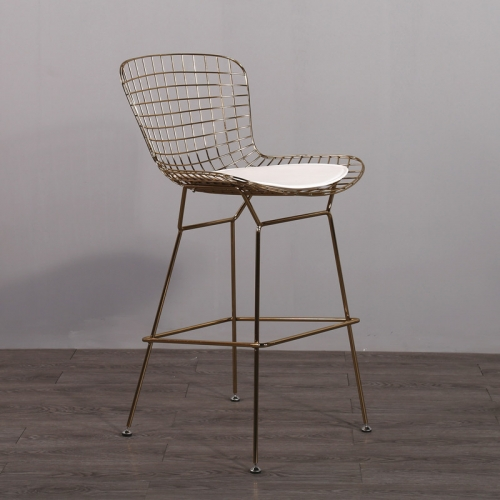 Replica Designer Furniture Chromed Steel Bertoia Bar Stool