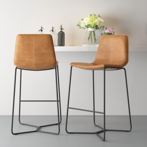 Modern Simple European Iron Luxury Slope Bar Stool