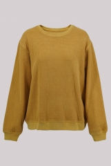 Yellow knitted pullo...