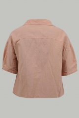 Milk tea pink short shirt