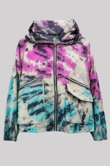 Tie-dye jacket with ...