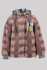 Teddy Check Hooded C...