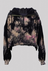 Tie-Dyed Cropped Cut...
