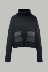 Black sweater with h...