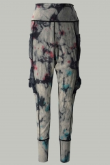Tie-dyed Harlan pants with multiple side pockets