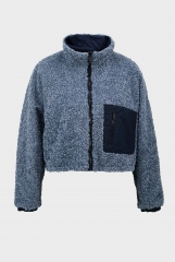 Smog blue plush coat