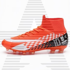 High cut outdoor training football boots soccer shoes
