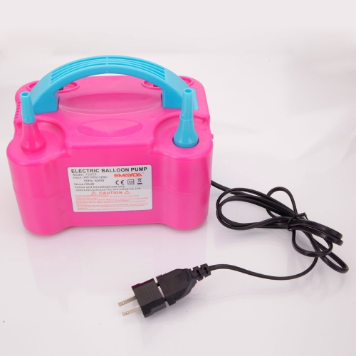 600W 110V Portable Electric Balloon Pump (US Standard) Rose Red & Blue