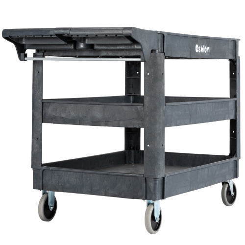 Oshion SC253-L3 Large Three-Layer Plastic Trolley Tool Cart