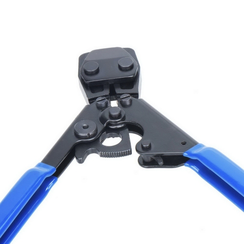 PEX Pipe Cinch Crimping Tool with Clamp Blue