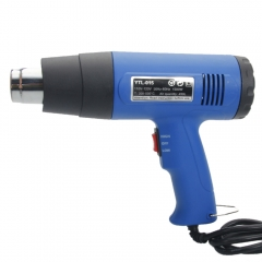1500W 110V Dual-Temperature Heat Gun with 4pcs Stainless Steel Concentrator Tips Blue