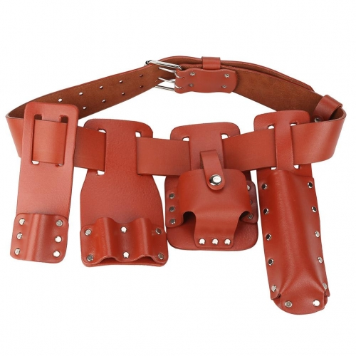 5in1 Leather Tool Belt Pouch Scaffolding Tool with Tool Holder for Level Spanners Hammer