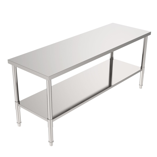 "72"" Stainless Steel Galvanized Work Table (without Back Board)"