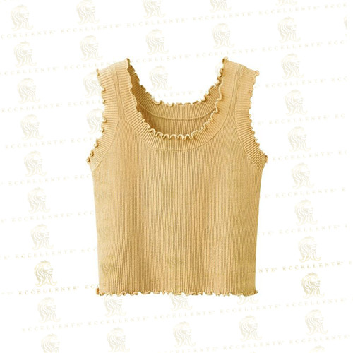 Tank with Lace Collar